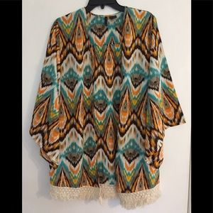 New Directions fringed cardigan